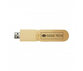 Wooden USB Flash Drive With Oval Wooden Swing