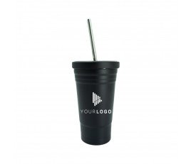 450ml Stainless Cup with Straw