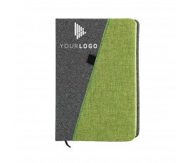 Customizable Grey & Color Notebook