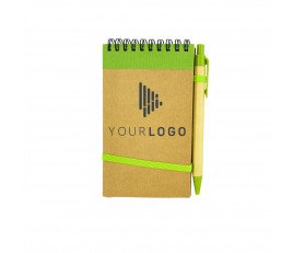 Mini Cardboard-Pen Lock Notebook (Horizontal Ring)