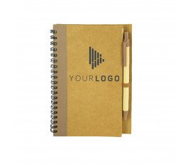 Cardboard-Pen Lock Notebook (Vertical Ring)