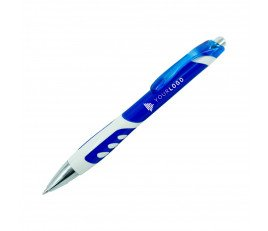 ปากกาพลาสติกพร้อมแถบขาว