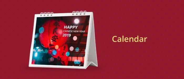 Calendars for Chinese New Year Celebration